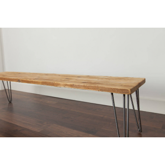 1100mm Rustic Reclaimed Scaffold Board Hallway Side Bench