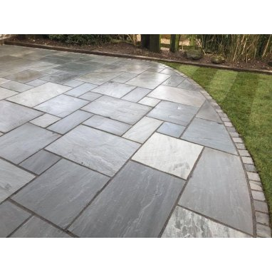 Kandla Grey Sandstone Paving Slab Patio Kit 19.19m2 Patio Pack - £21.72 p/m2