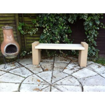 Kobocrete Dual Garden Bench Dry Cast Stone Mix With Solid Ash Hardwood Top