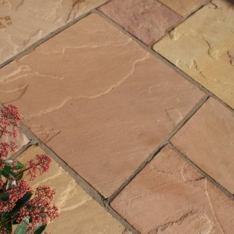 Modak Sandstone Paving Slab Patio Kit - 19.19m2 Project Pack