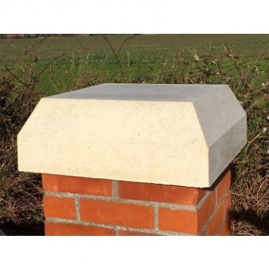 Monkston Stone 15 inch Flat Top Pier Cap