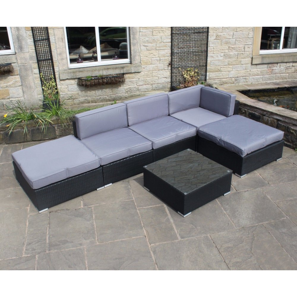 all weather pvc rattan corner sofa set with coffee table. Black Bedroom Furniture Sets. Home Design Ideas