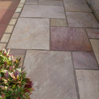 Raveena Sandstone Paving Slab Patio Kit 19.19m2 Patio Pack - £21.72 p/m2