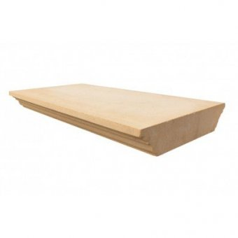13 Inch Flat Regency Dry Cast Reconstituted Wall Coping Stone (330mm X 600mm) - UK Made