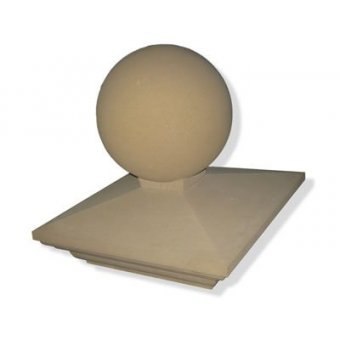 Regency 22 Inch Reconstituted Stone Dry Cast Pier Cap + 450mm Sphere 2.5 Brick - UK Made