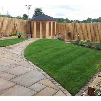 Rippon Sandstone Paving Slab Patio Kit - 19.19m2 Project Pack