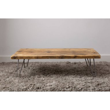 1000mm Rustic Reclaimed Scaffold Board Coffee Table