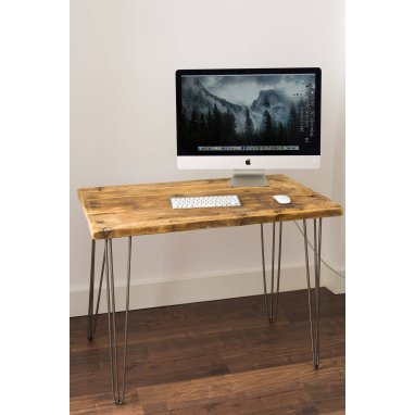 1000mm Rustic Reclaimed Scaffold Board Desk