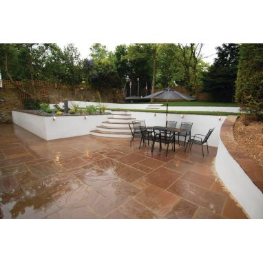 Strata Whitchurch Autumn Sandstone Paving Slabs 15.25m2 Patio Pack - £28.33 p/m2
