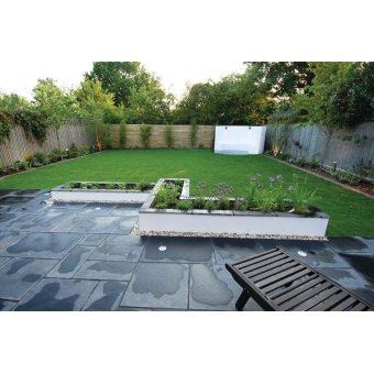 Strata Whitchurch Black Lime Limestone Paving Slab 15.25m2 Patio Pack - £29.97 p/m2