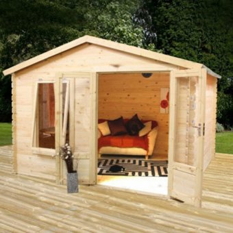 Mercia Log Cabin Mercia Log Cabin 19mm 2 x 2.5m