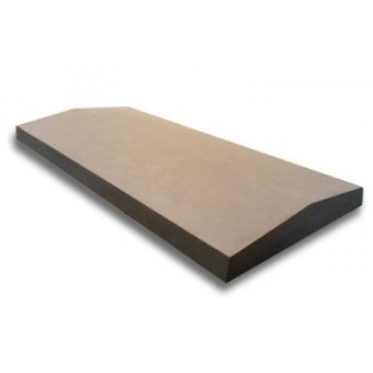 15 Inch Dry Cast Reconstituted Stone Utility Twice Weathered Wall Coping (380mm x 600mm) - UK Made