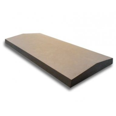 21 Inch Dry Cast Reconstituted Stone Utility Twice Weathered Wall Coping (530mm x 600mm) - UK Made