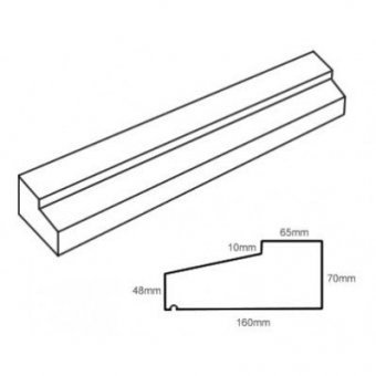 TYPE 1 STONE SLIP WINDOW SILL 70-48MM X 160MM