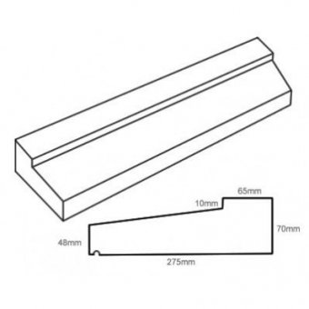 TYPE 4 STONE SLIP WINDOW SILL 70-48MM X 275MM