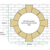 Dry Cast Reconstituted Stone Circular 140mm Window Surround - UK Made