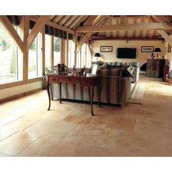 Strata Stone Wharfdale Internal Limestone 500mm x Random Length Antique Tile Slab Pack - 16.25m2