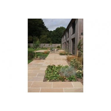 Strata Whitchurch Raj Sandstone Paving Slabs 15.25m2 Patio Pack - £28.72 p/m2